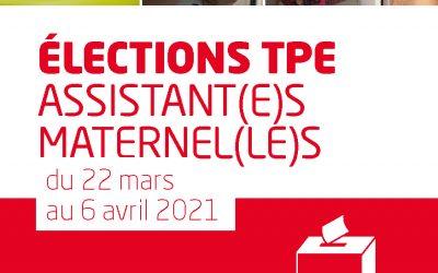 Elections TPE, Assistant(e)s Maternel(le)s, du 22 mars au 6 avril, mon vote, c'est ma FOrce