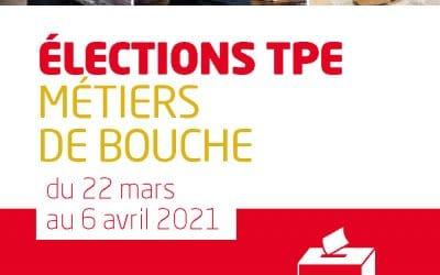 Elections TPE, Salarié(e)s des métiers de bouche, du 22 mars au 6 avril, mon vote, c'est ma FOrce