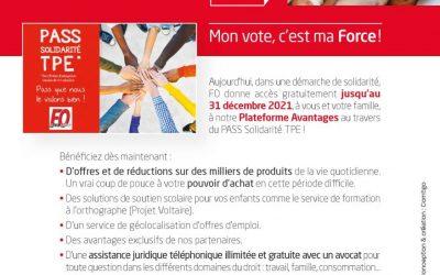 Elections TPE, salarié(e)s et enseignant(e)s de l'Esthétique, du 22 mars au 6 avril, mon vote, c'est ma FOrce